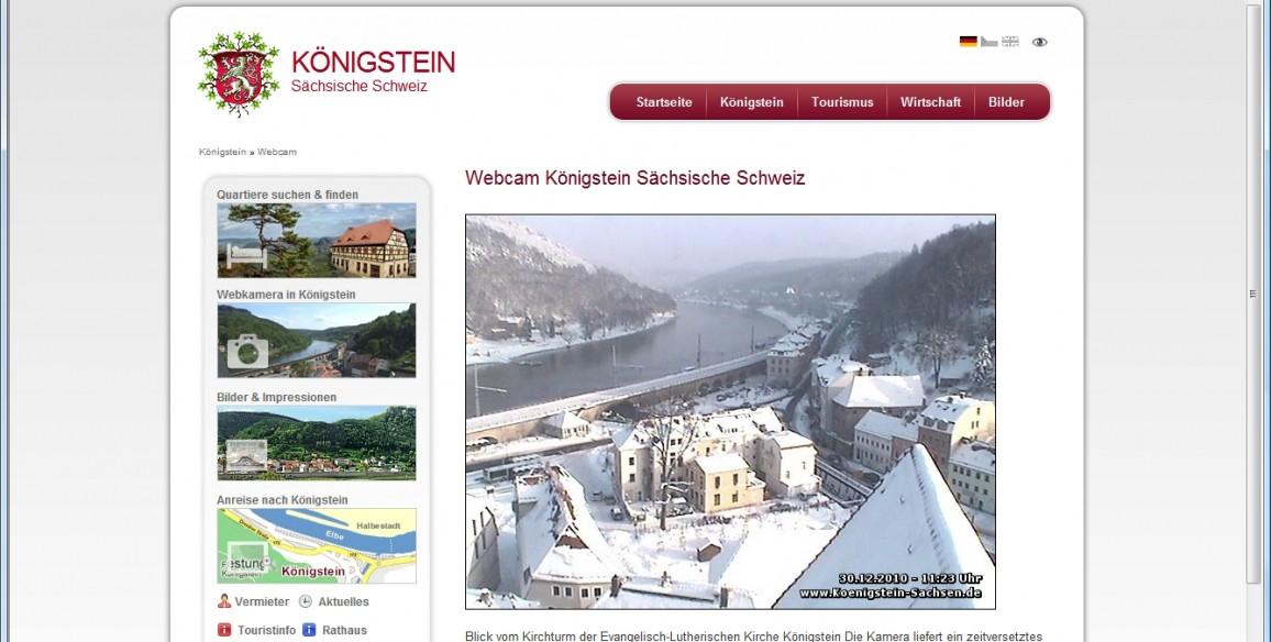 Webcam Königstein, Sachsen