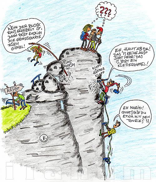 Webdesign mit Karikaturen