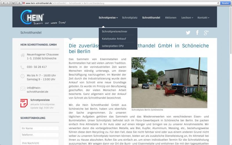 Hein Schrotthandek GmbH Berlin