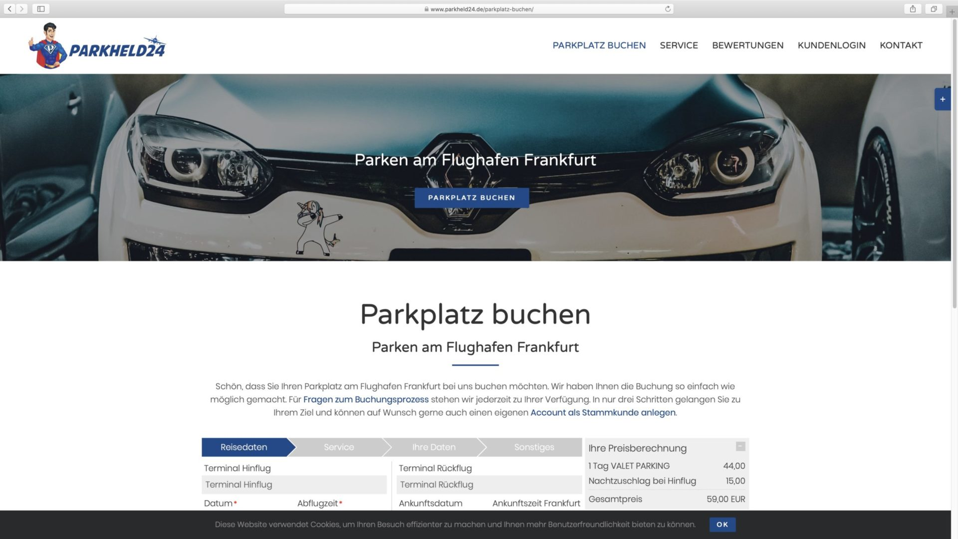 Valet Parking Frankfurt parkheld24