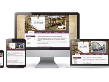 Webdesign Landhotel Heidekrug Cotta