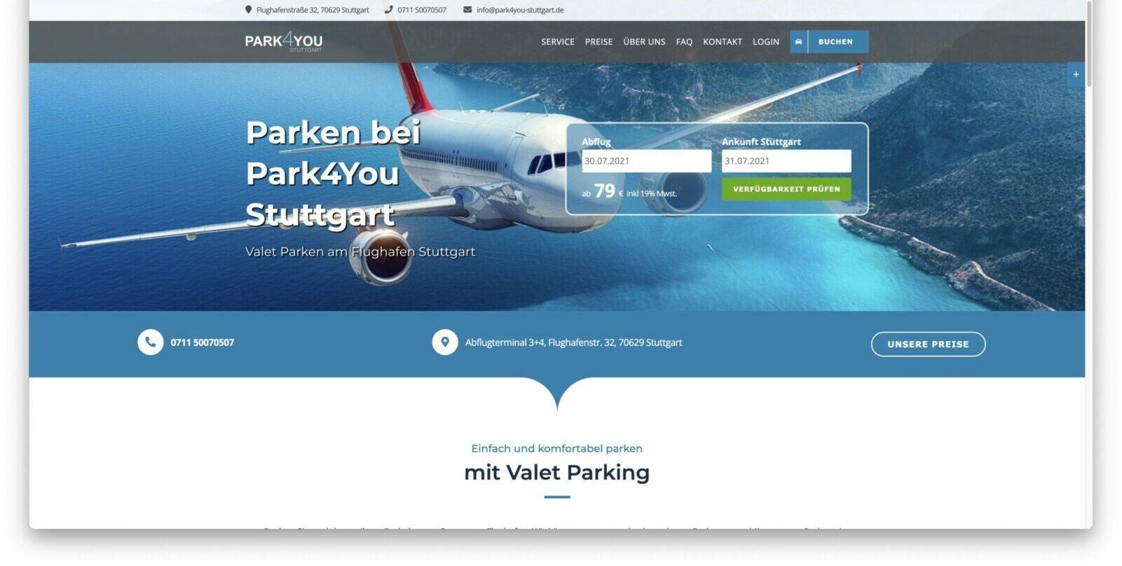 Valet Parken Flughafen Stuttgart